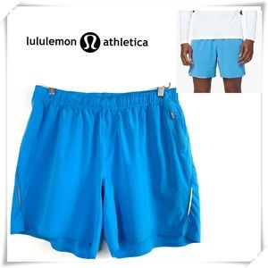"""Lululemon Switch Up Short 6"""" Work out Shorts Blue"""